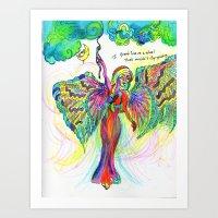 The Angel's Wheel Art Print