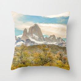 El Chalten, Patagonia, Argentina Throw Pillow