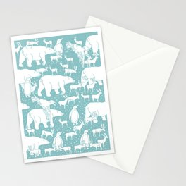 Polar gathering (peppermint) Stationery Cards