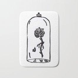 Rose under glass Bath Mat