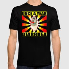 once a year diarrhea LARGE Black Mens Fitted Tee