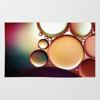 oil Area & Throw Rugs featuring Oil On Water Colourful by ALLY COXON