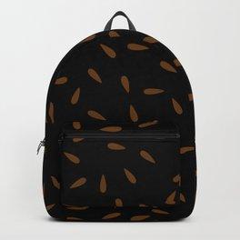 Brown Caramel Drops on Black Background Backpack