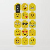 emoji iPhone & iPod Cases featuring Emoji-Minifigure by Raddington Falls