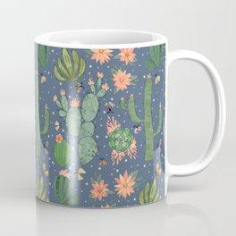 Succulents in Blue Coffee Mug