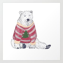 Beary Christmas Art Print