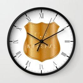 United States Marshal Shield Badge Wall Clock