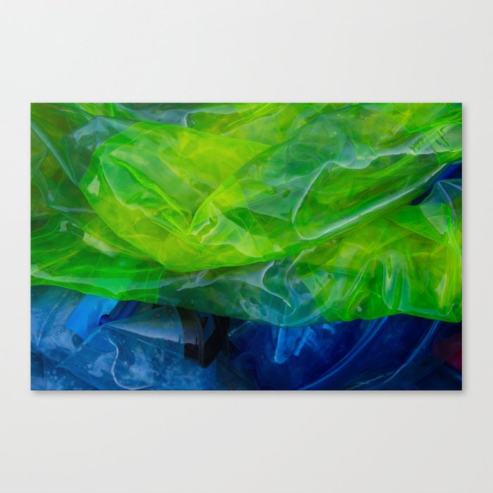 plastic yellow and blue Canvas Print