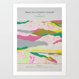 Travel To a Different Country  Art Print