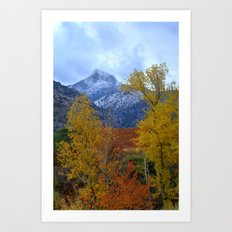 Fall mountains. Misty Trevenque Art Print