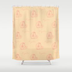 Bicycle Print Design  Shower Curtain