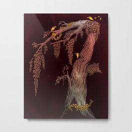 Tree Birds Metal Print