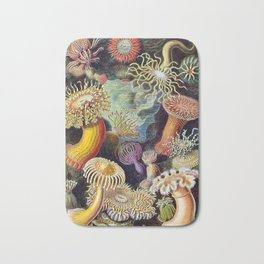 Anemones by Haeckel (Sea Plants and Flowers) Bath Mat