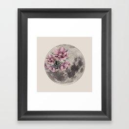 Moon in Bloom Framed Art Print