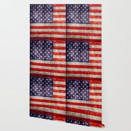 Antique American Flag Wallpaper