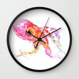 pink Octopus Wall Clock