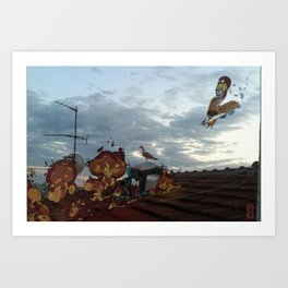 flying ziya Art Print