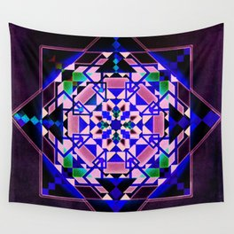 Purple, blue shapes and paterns Wall Tapestry