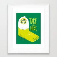 bigfoot Framed Art Prints featuring Advice Bigfoot by Morkki