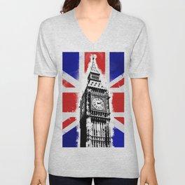 Union Jack Big Ben Unisex V-Neck