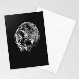 Human Skull Vintage Illustration  Stationery Cards