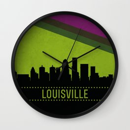 Louisville Skyline Wall Clock