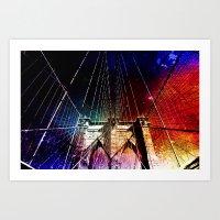 brooklyn bridge Art Prints featuring Brooklyn Bridge by Vivienne Gucwa