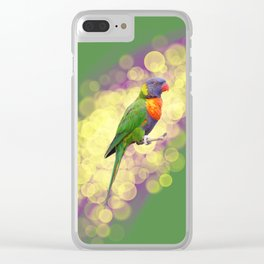 Rainbow Lorikeet Clear iPhone Case