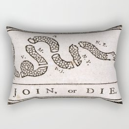 Join or Die Rectangular Pillow