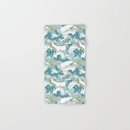 Whales and waves pattern Hand & Bath Towel