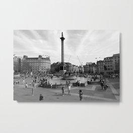 Trafalgar Square, London, England Metal Print