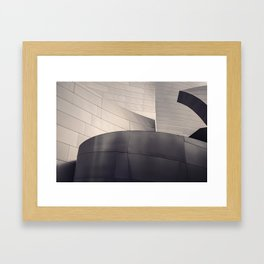 Architectural abstract, Black and White, LA Philharmonic, Architect: Frank Gehry Framed Art Print