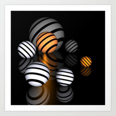 reflections and spheres -3- Art Print