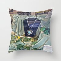 shopping Throw Pillows featuring Window Shopping by Frankie Cat