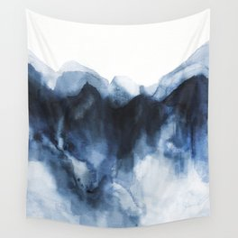 Abstract Indigo Mountains Wall Tapestry