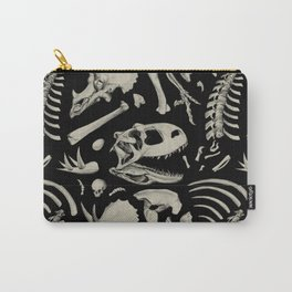 Dino Bones Black Carry-All Pouch