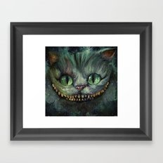 Cheshire Cat - We're All Mad Here Framed Art Print