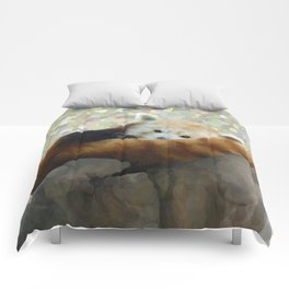 Tired Red Panda Comforters