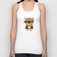 beaver Tank Tops featuring Super Beaver by Ariseli Modica