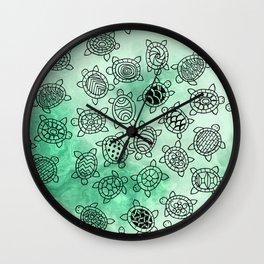 Turtle Patterns Wall Clock