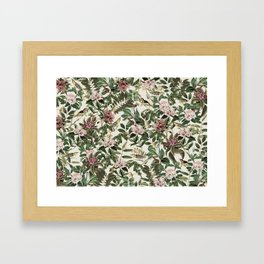 Eden Hand Illustrated Floral Pattern Framed Art Print