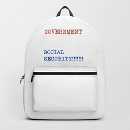 Get Your Government Hands Off My Social Security Backpack