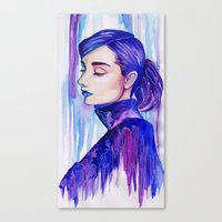 audrey hepburn Canvas Prints featuring Audrey Hepburn by Vivian Loh Arts