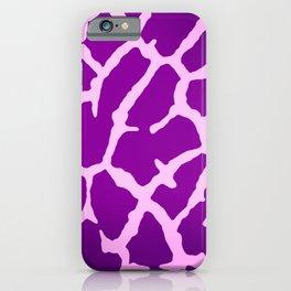 Purple Giraffe Print iPhone Case