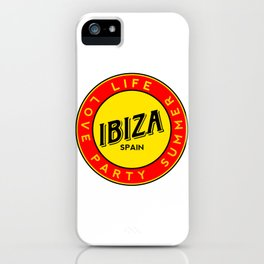 Ibiza, summer, party, love, circle iPhone Case