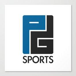 PG Sports Logo Canvas Print