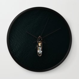 Iceland Ship from Above - Ocean Photography Wall Clock
