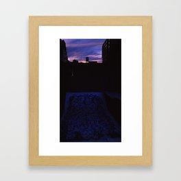 Sunset and Graffiti  Framed Art Print