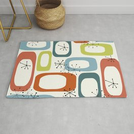 Mid Century Modern Shapes 1950s colors  Rug