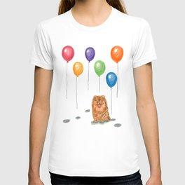 Pomeranian with balloons T-shirt